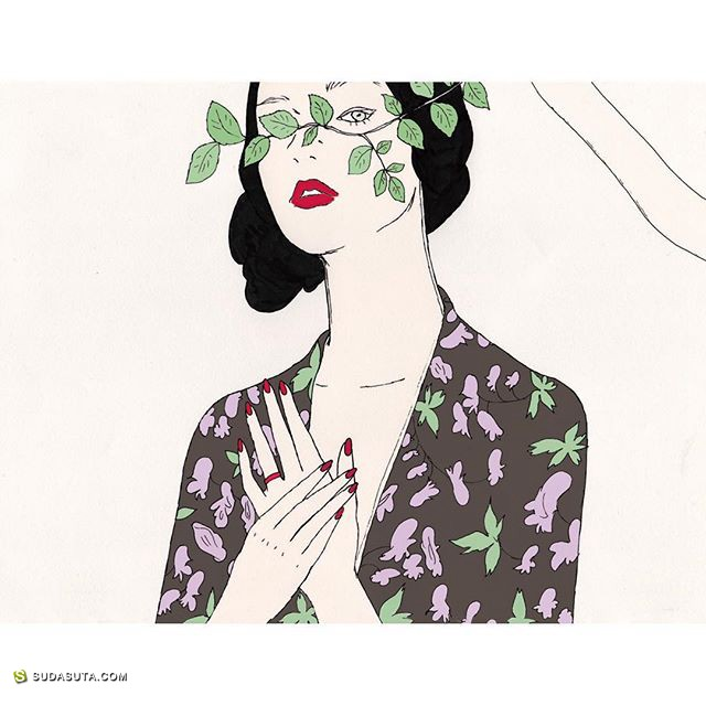 maegamimami 时尚插画欣赏