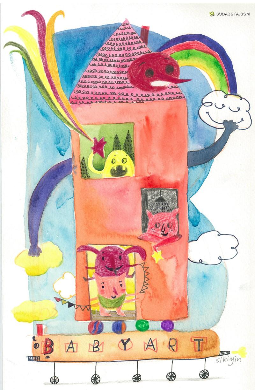 书皮-sikiyin 儿童插画欣赏