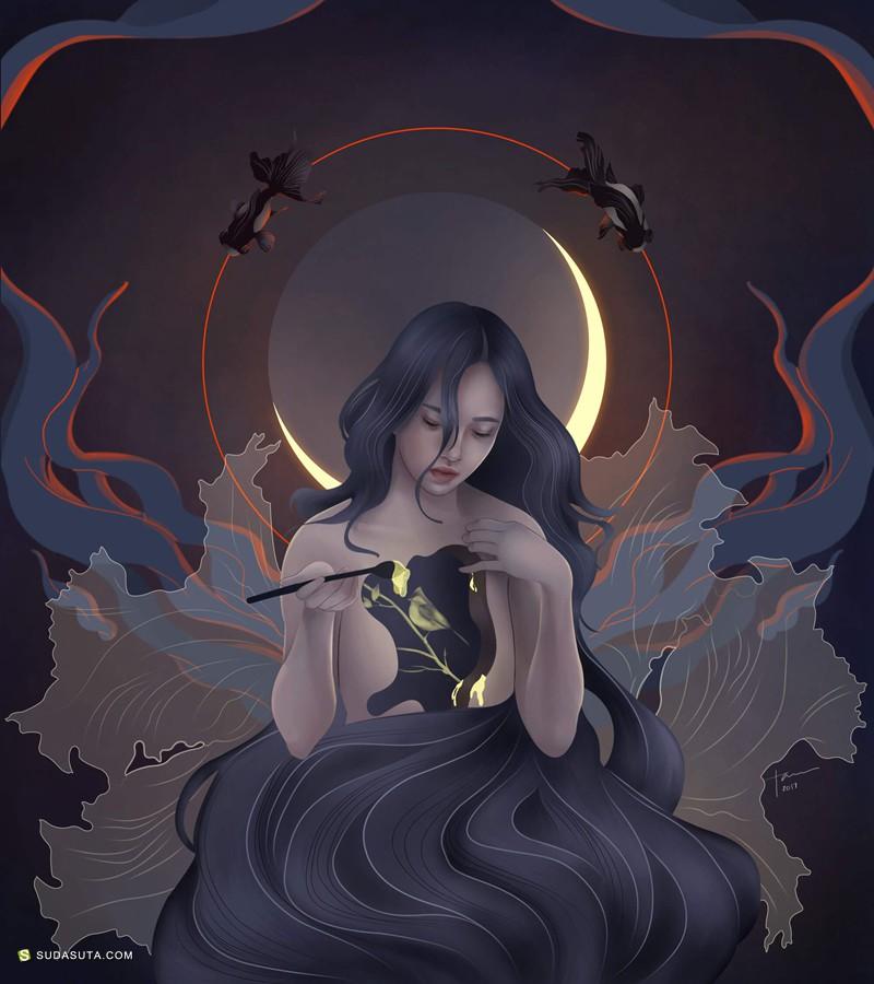 Katrina Taule 不可思议的神话个性插画