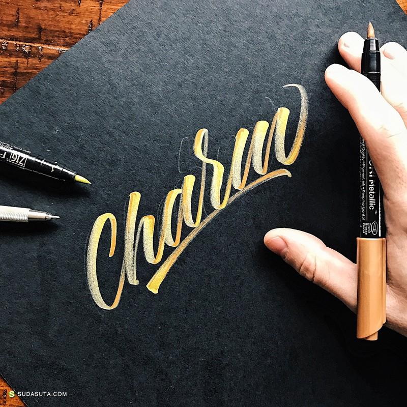 Michael Moodie 手写花体字设计欣赏