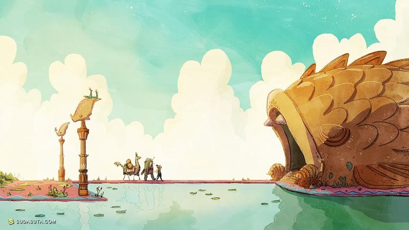 Tim Probert 《Bea&Cad》个人插画作品欣赏