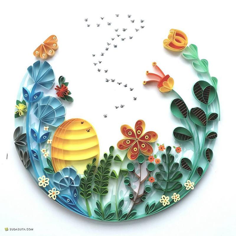 Meloney Celliers 纸张与花朵 手工艺术欣赏