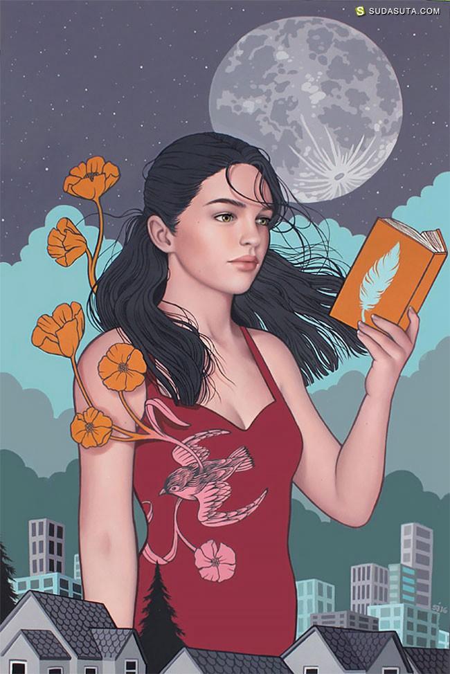Sarah Joncas 女性肖像插画欣赏