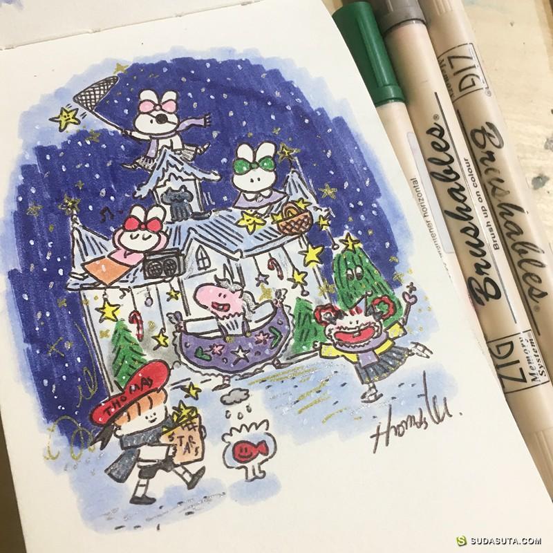 Thomas lee 可爱的小插画