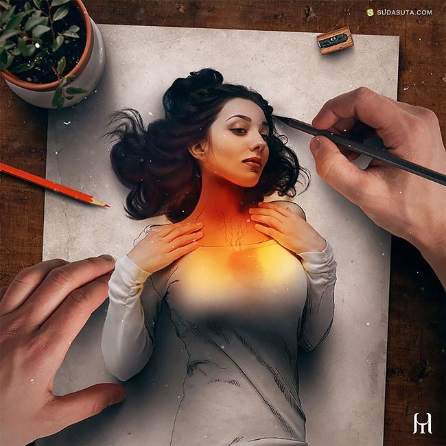 Tullius Heuer 不可思议的绘画艺术!