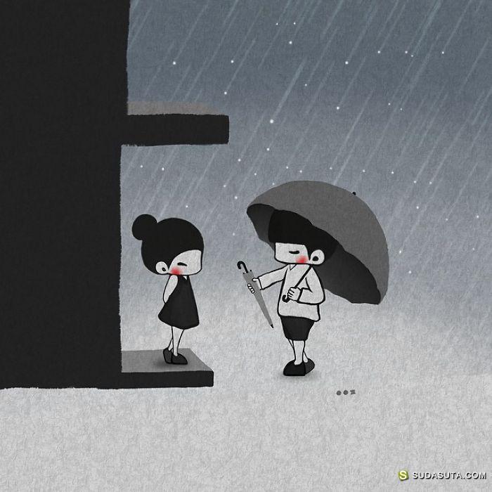 Young Joo Kim 关于爱的漫画