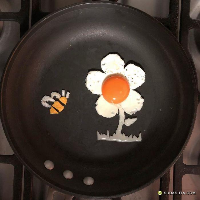 鸡蛋艺术家!美食的不可思议!