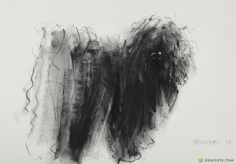 Penovác Endre 脏兮兮的动物肖像插画
