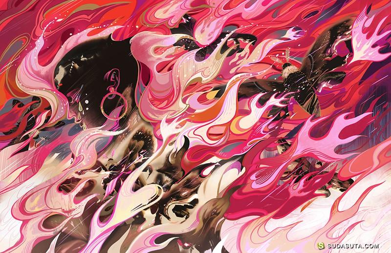 Kuri Huang 中国风手绘插画欣赏