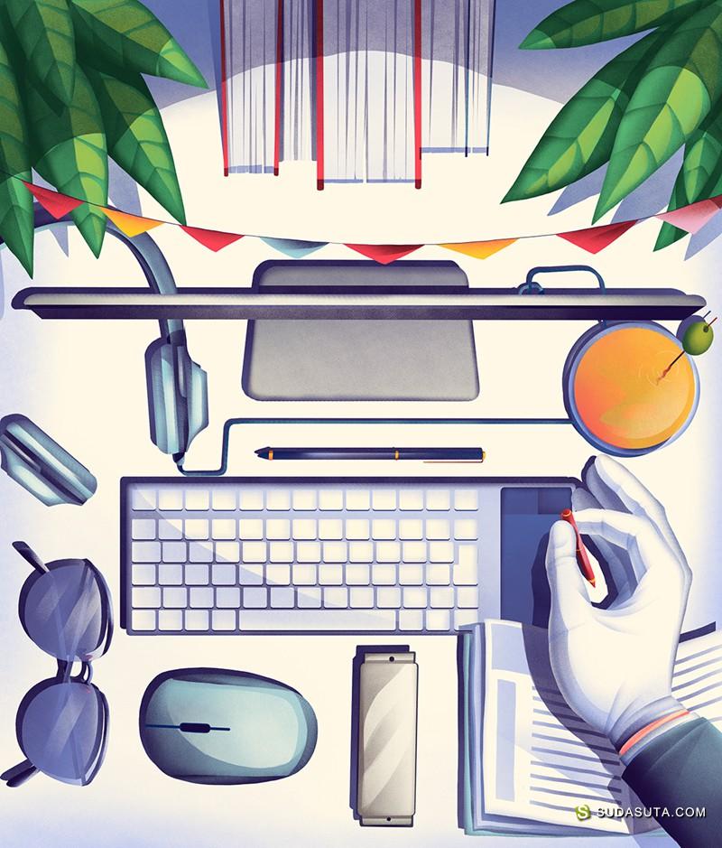 Florent Hauchard 商业插画欣赏