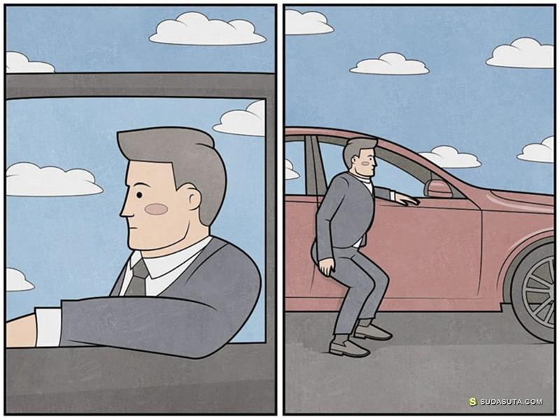 Gudim. 有趣幽默的插画作品欣赏