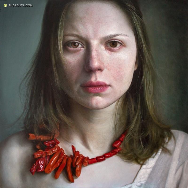 Viktoria Savenkova 肖像插画欣赏
