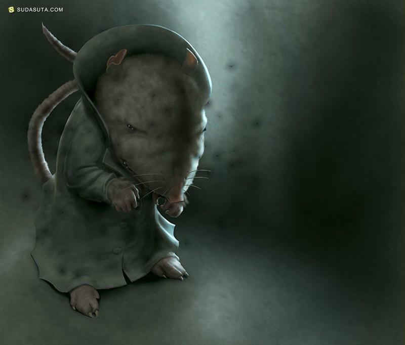 Chris Beatrice 儿童插画欣赏《Museum Mouse》