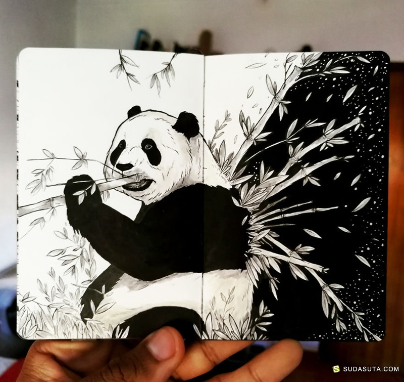 Bráulio Monteiro 超现实主义涂鸦日记