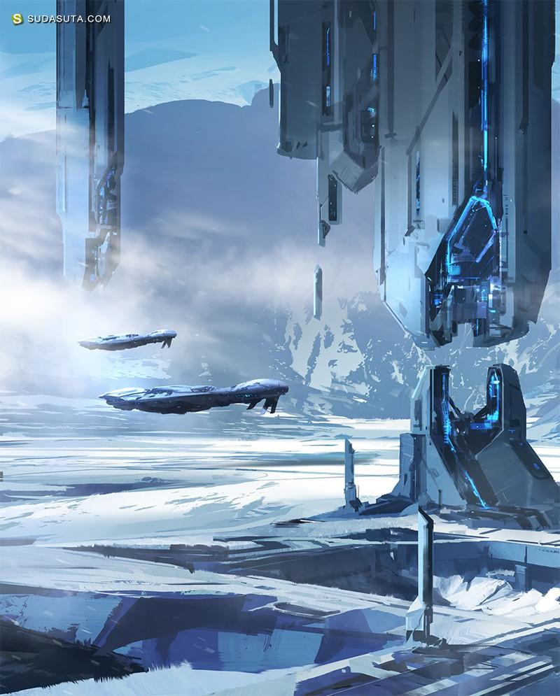 Nicolas Bouvier 超现实主义科幻插画欣赏