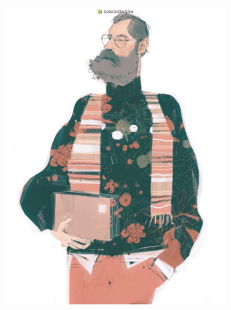 Darya Shnykina 杂志插画欣赏