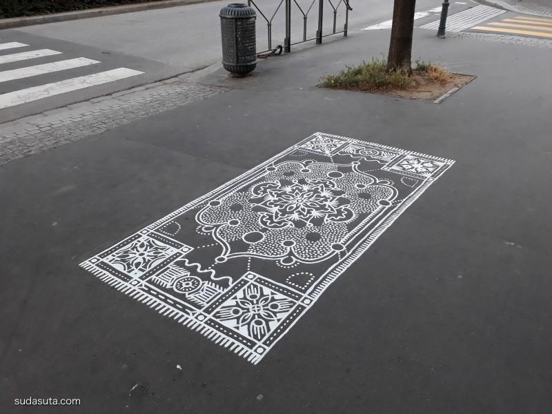 Arthur-Louis Ignoré 在马路上作画