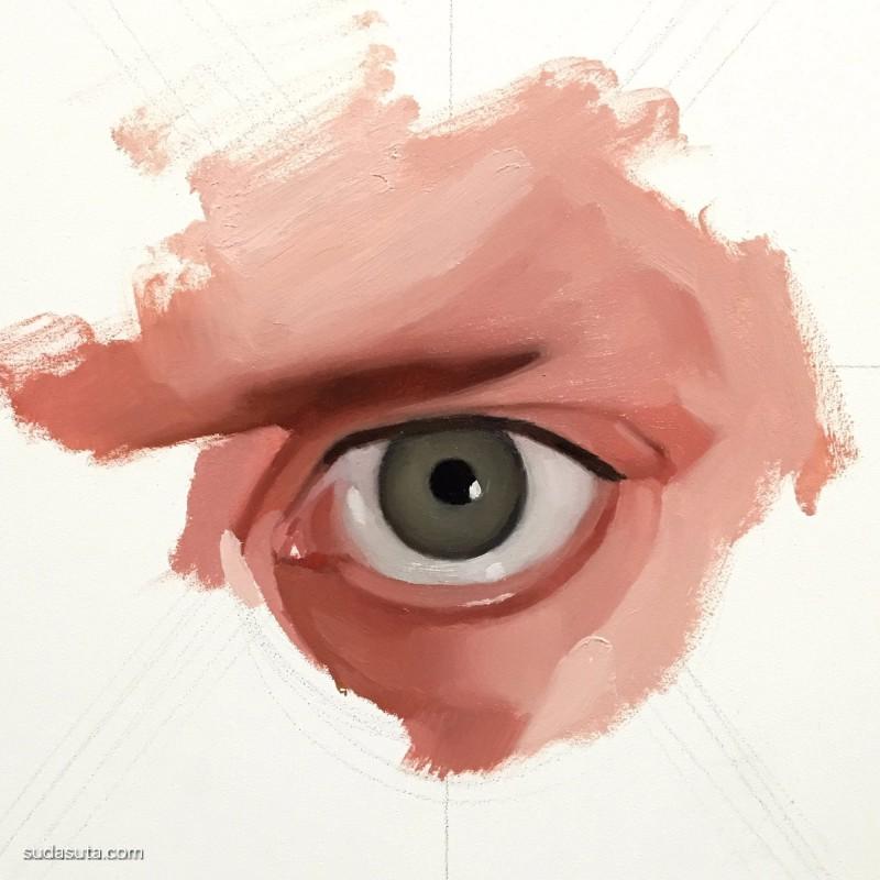 Emilio Villalba 眼睛 超现实主义绘画作品欣赏