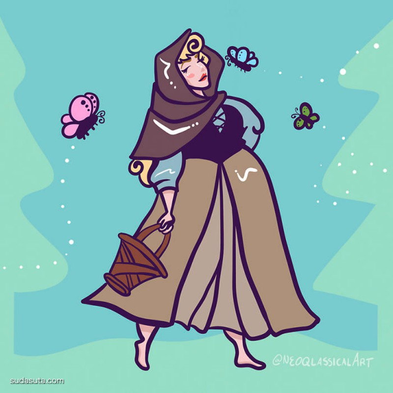 Neoqlassicalart 迷人而大码的迪士尼女郎