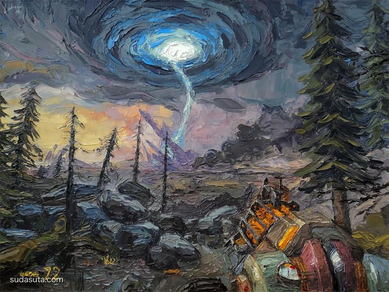 Nikolay Lobzov 艺术插画欣赏