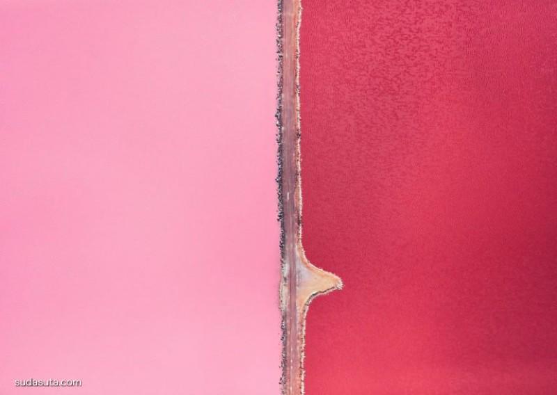 Remy Gerega 红色的赫特泻湖 航拍摄影欣赏