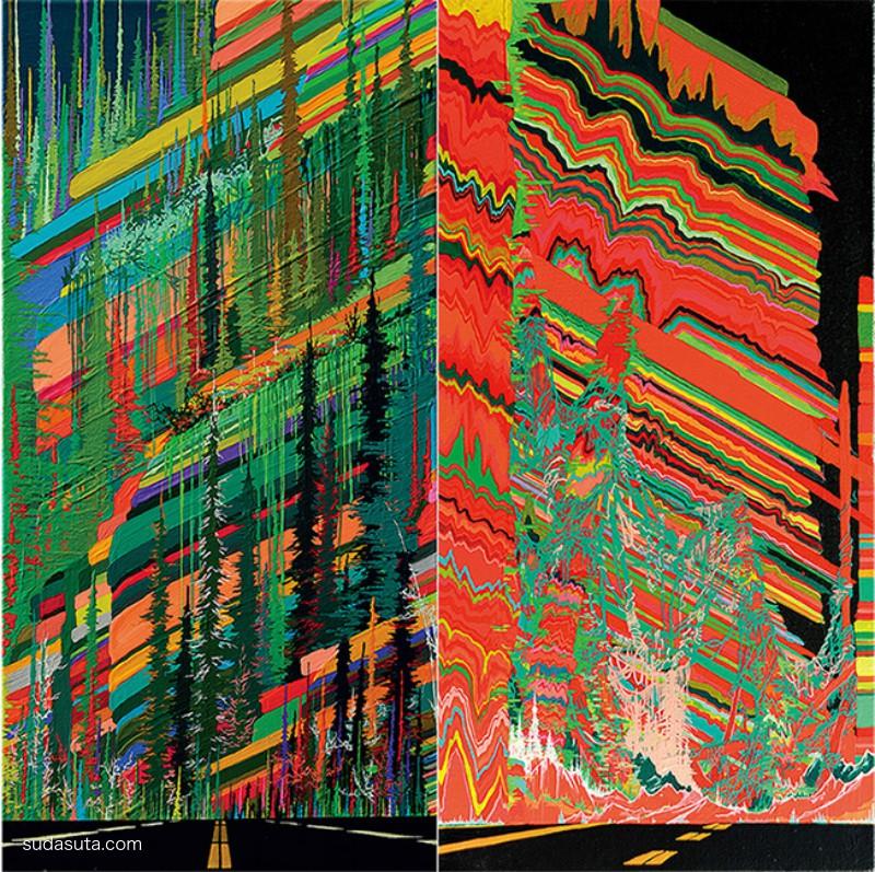 周范 炫目抽象的色彩