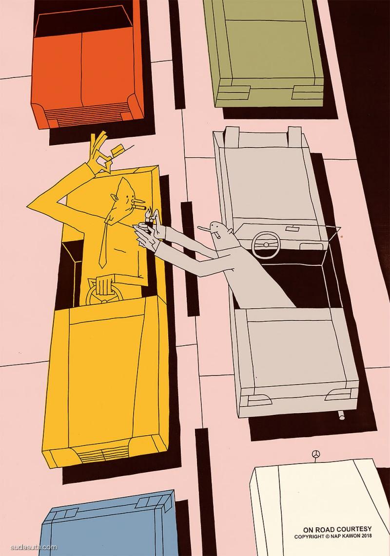 Krzysztof Nowak 潮流卡通漫画欣赏