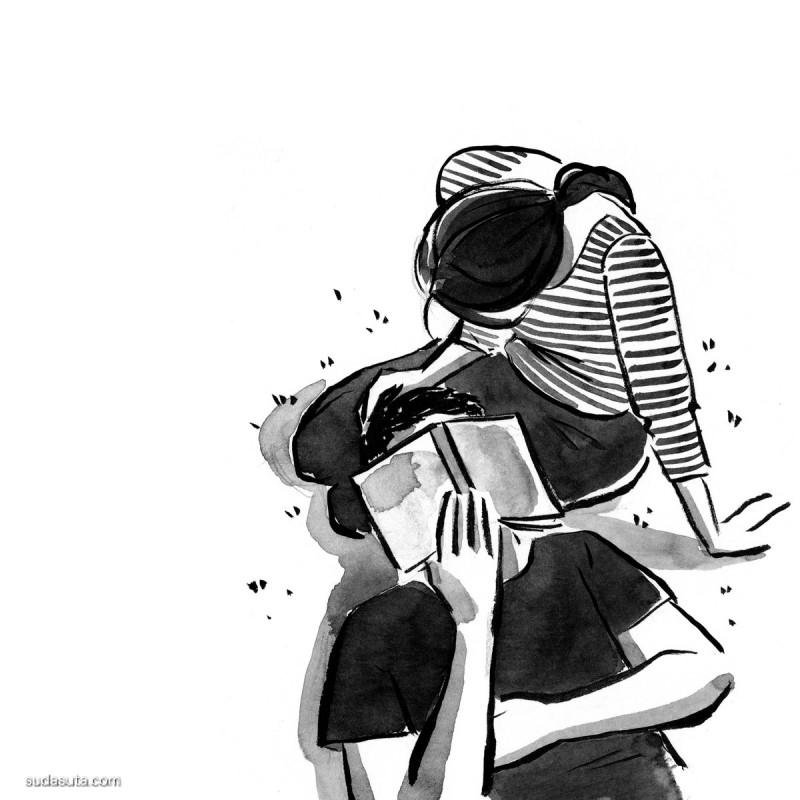 Agnes Lee 黑白漫画欣赏