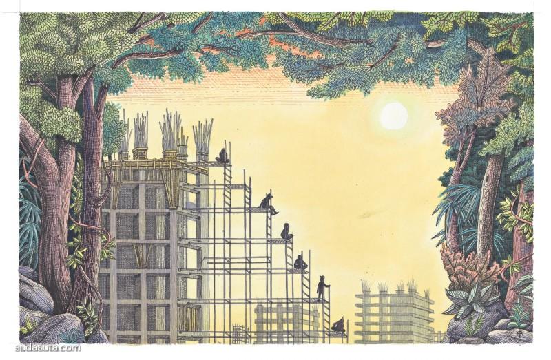 Edouard Baribeaud  神话与现代 主题插画欣赏