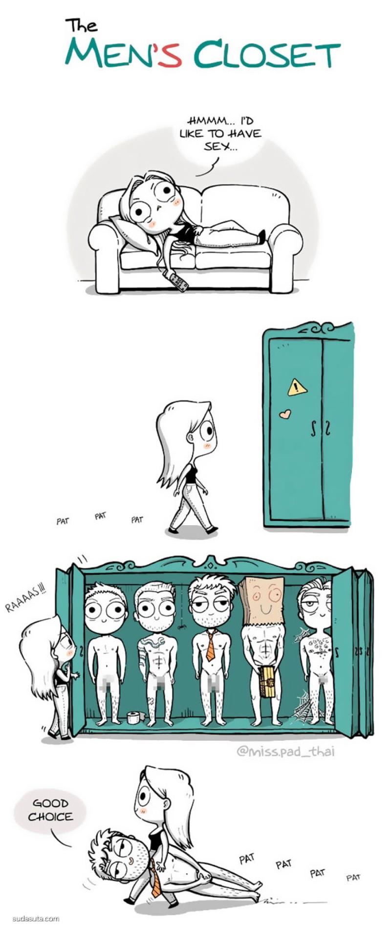 Esther González 可爱而有趣的生活小卡通