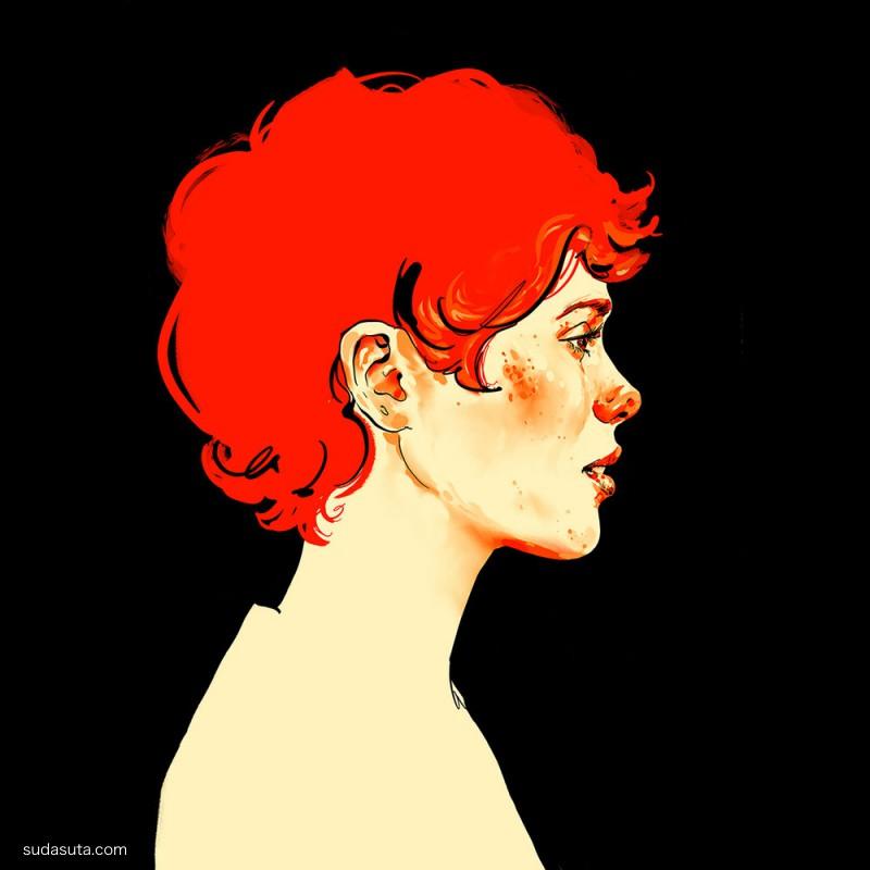 Sophia Miroedova 手绘人物插画作品欣赏