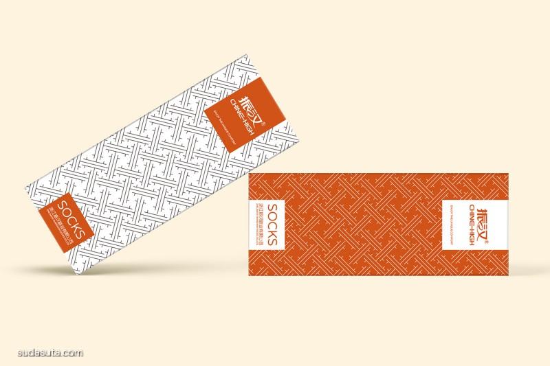 可道视觉设计 振汉袜子包装设计欣赏