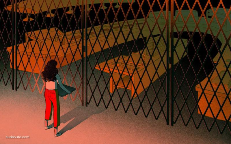 Angelica Alzona 一个人的寂寞 商业插画欣赏