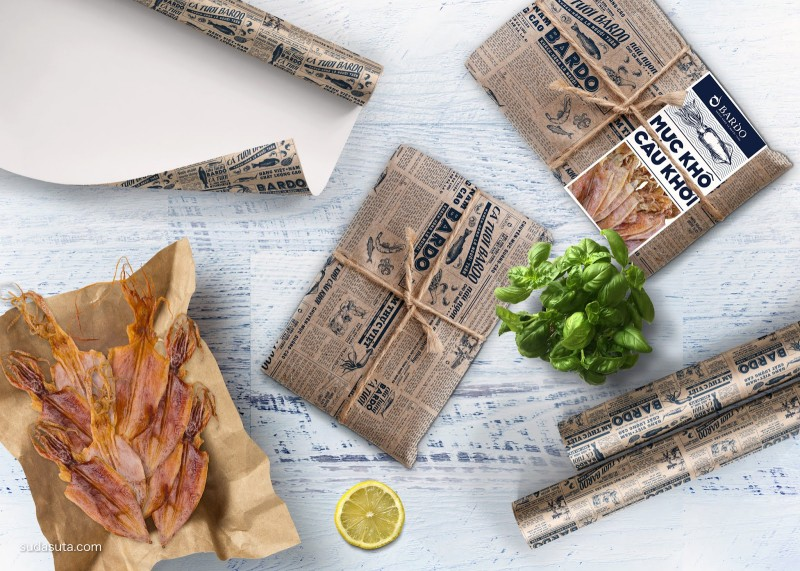 BARDO Dried Squid 包装设计欣赏