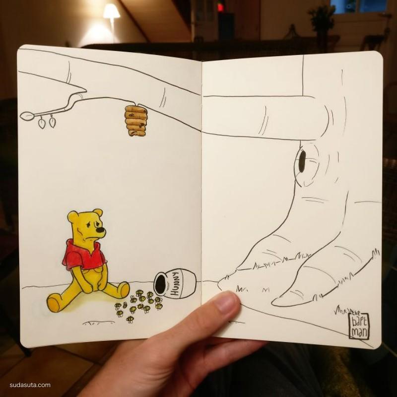 Billy Drausin 迪士尼手绘同人插画