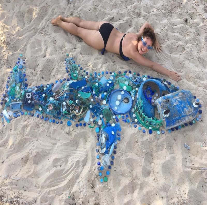 Dominique 海滩清理活动
