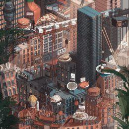 Doug John Miller 绘画立体城市