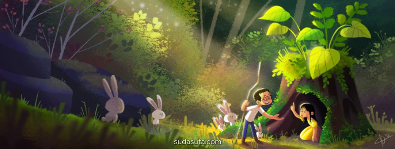 Hana Augustine 温馨浪漫的儿童插画
