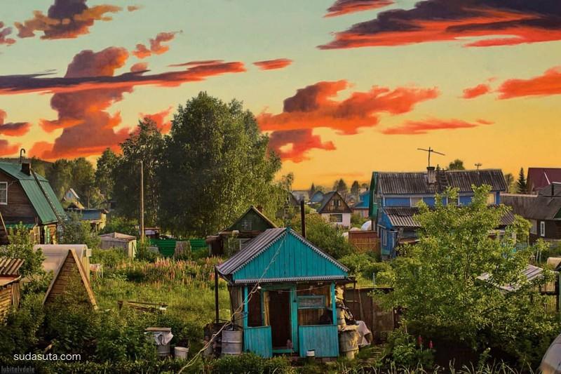 Vlad Kapichay 不可思议的卡通人物与现实街景