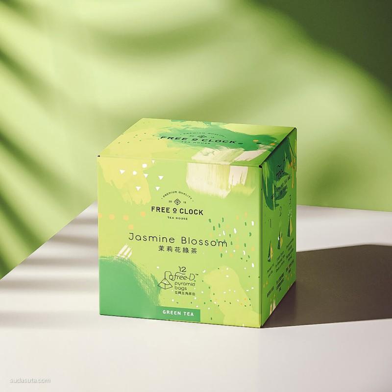 Free O'clock 茶的包装设计欣赏