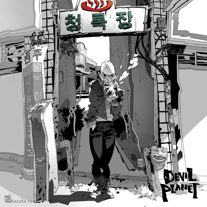 Minjung Kang 卡通人物造型设计欣赏