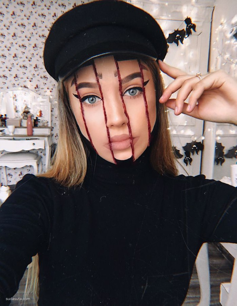 Monika Falcik 万圣节的恐怖彩妆