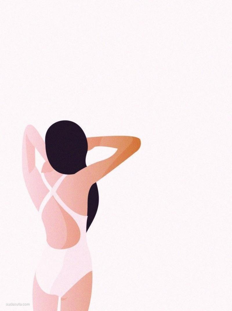 Salome Gautier 简约风格的时尚插画欣赏