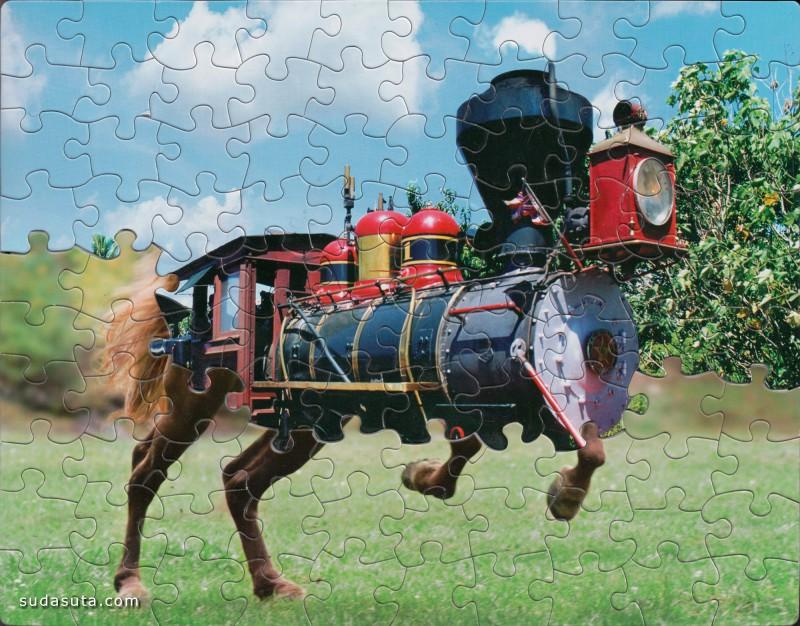 Tim Klein 拼图的游戏 拼贴艺术欣赏