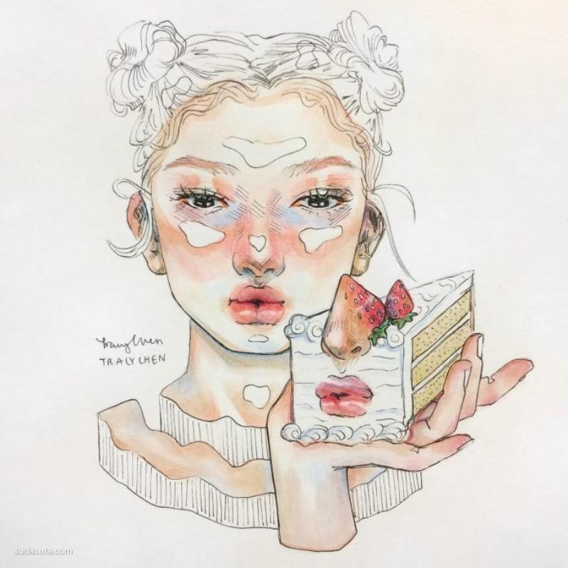 Tracy Chen 时尚插画欣赏
