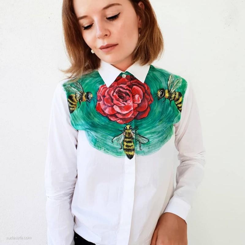 Turns Faceless 手绘的花衣服