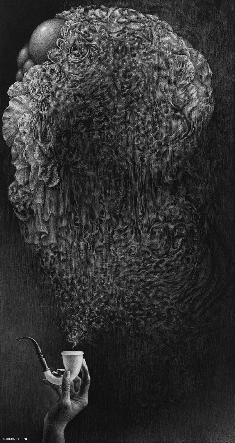 Bette Burgoyne 黑色和白色的插画