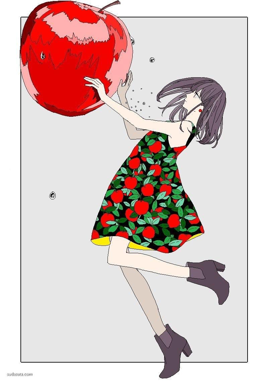 umenamerou 矢量时尚插画欣赏