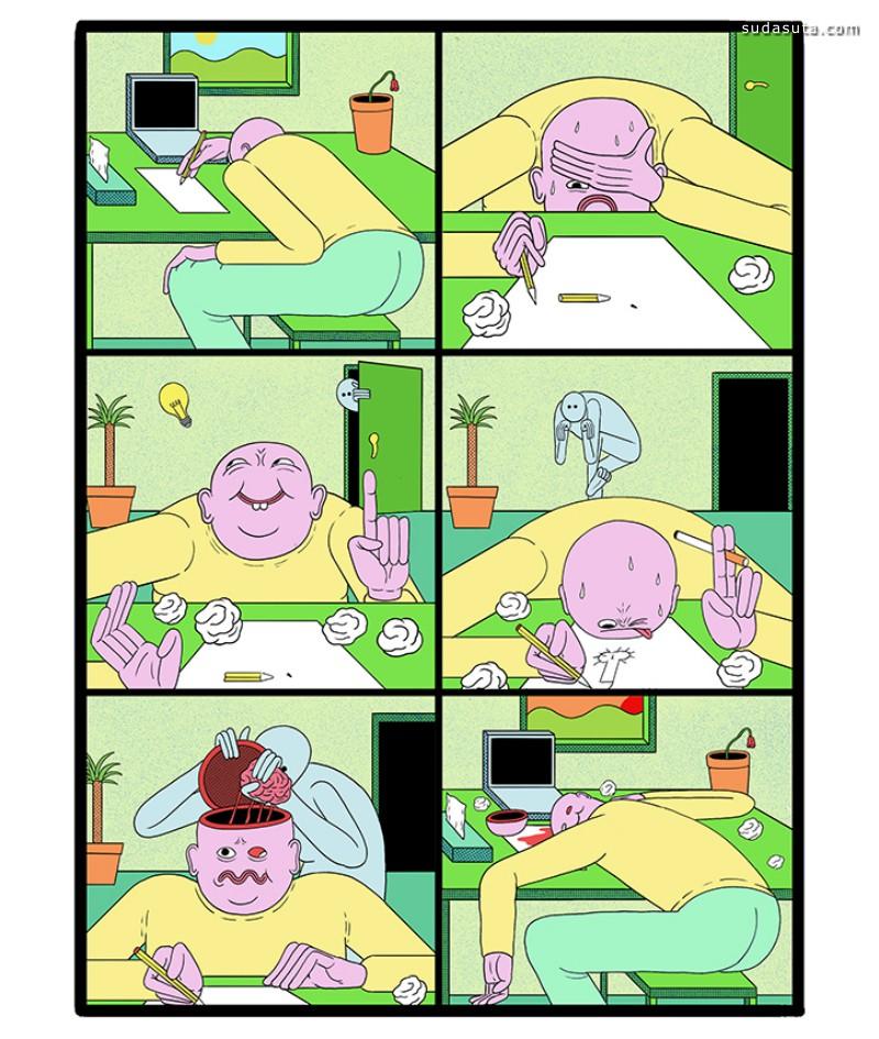 Alex Gamsu Jenkins 真实的世界 卡通漫画作品欣赏