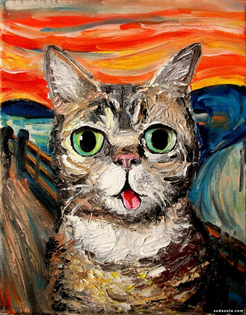 Aja Trier 当猫咪入画巧遇梵高